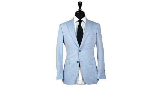Baby Blue Linen Suit