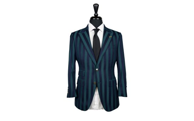 Green and Blue Stripe Suit