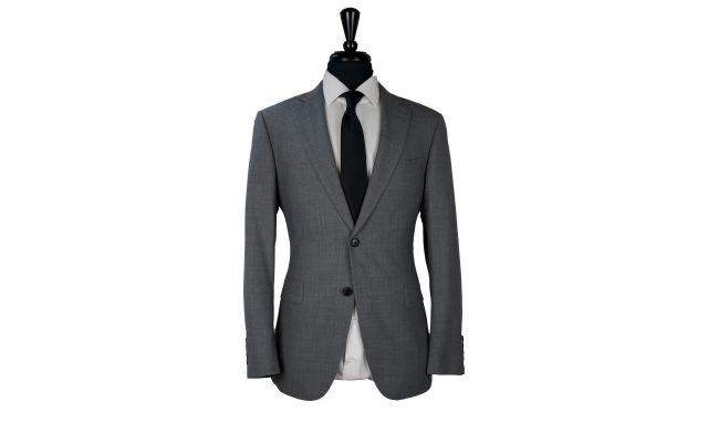 Grey Stretch Wool Suit