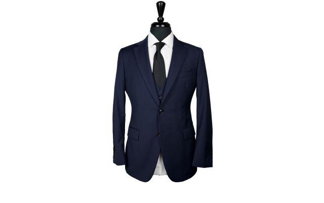 Midnight Blue Twill Wool Suit