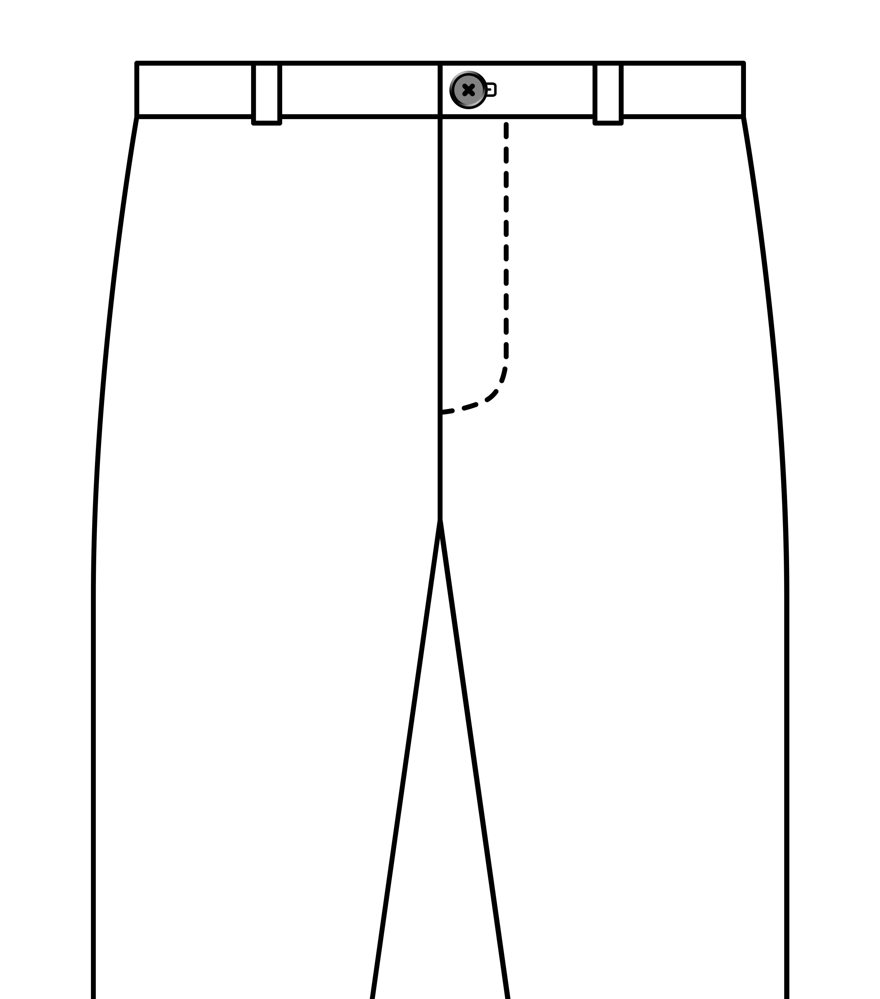 Centered fastening