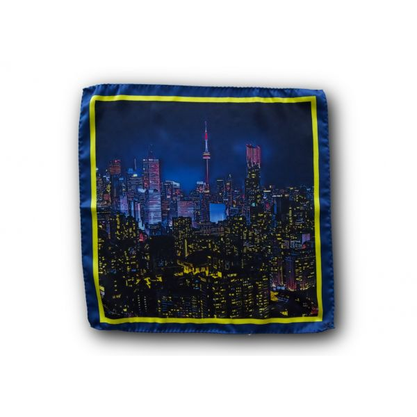 Toronto Skyline Pocket Square
