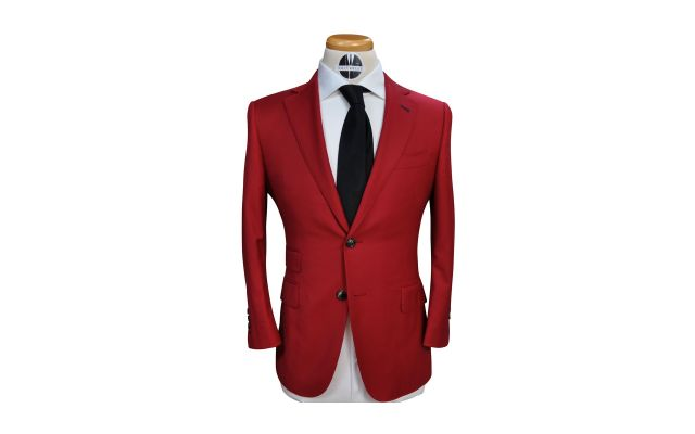Red Custom Wool Suit
