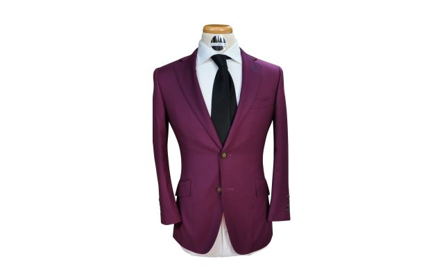 Purple Custom Wool Suit