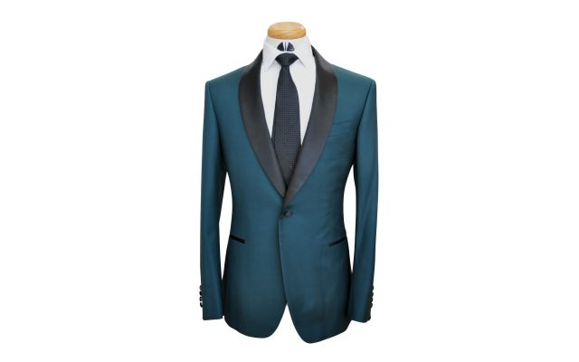 Pine Green Custom Wool Suit