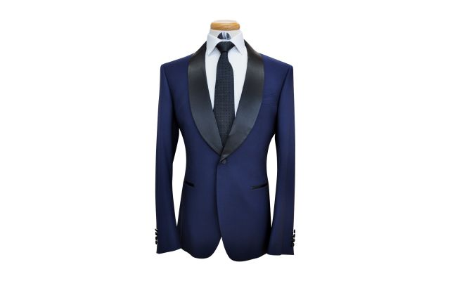 Oxford Blue Custom Wool Suit