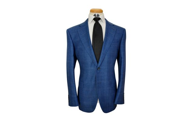 Yale Windowpane Custom Wool Mix Suit