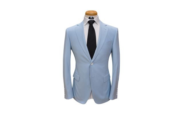 Powder Blue Custom Wool Suit