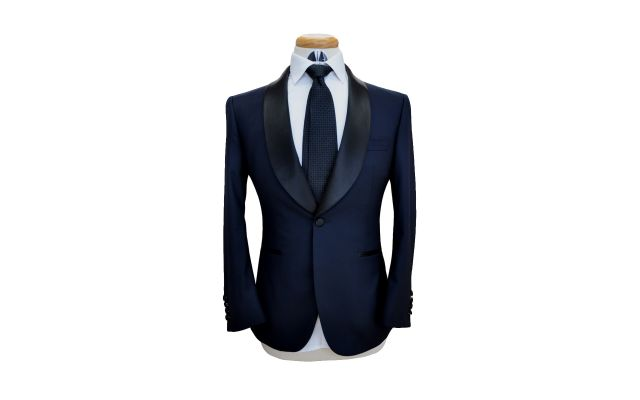 Midnight Blue Custom Wool Suit
