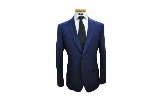 Azure Blue Custom Wool Suit