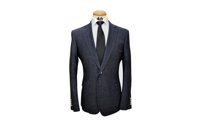 Textured Charcoal Custom Wool Suit