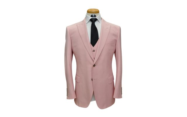 Pink Custom Wool Suit