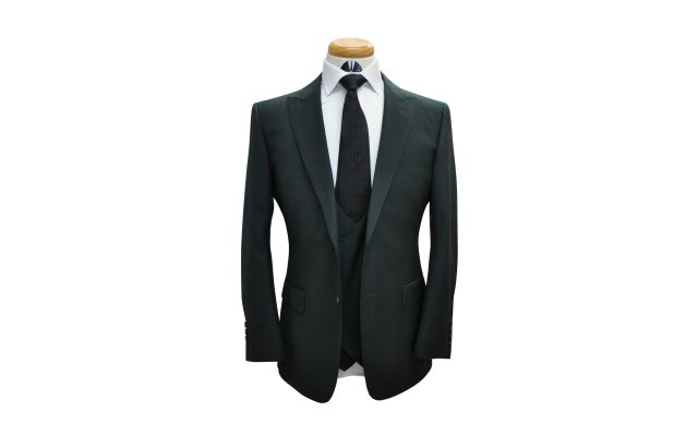 Forest Green Custom Wool Suit