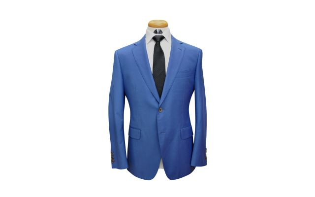 Lapis Blue Custom Wool Suit