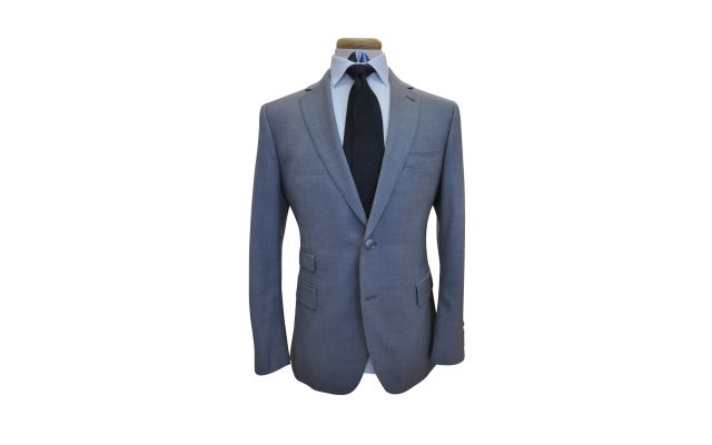 Classic Grey Custom Wool Suit