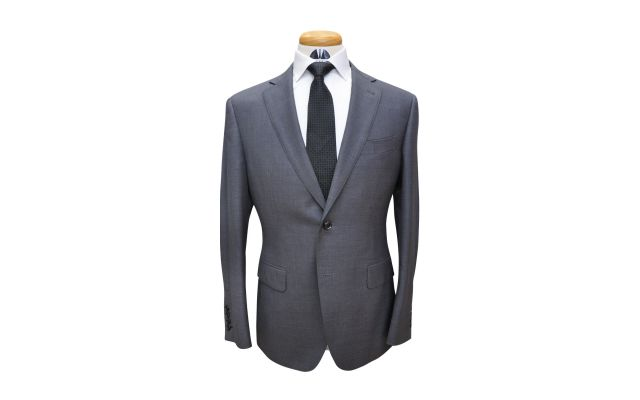 Dark Grey Custom Wool Suit