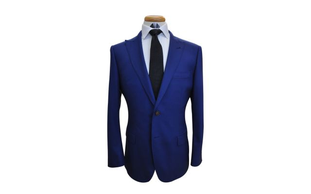 Royal Blue Custom Wool Suit