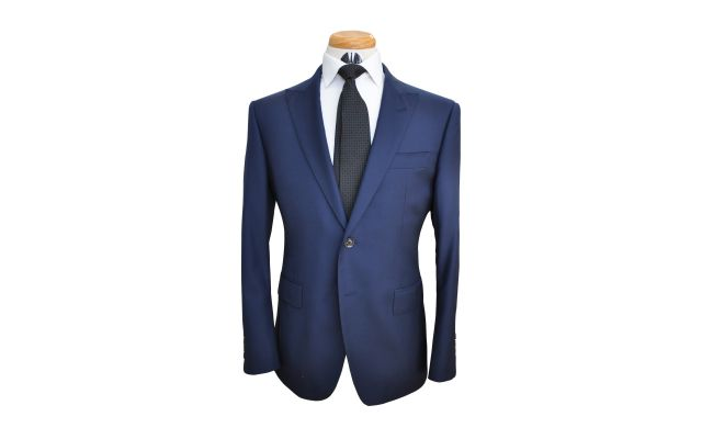 Navy Blue Custom Wool Suit