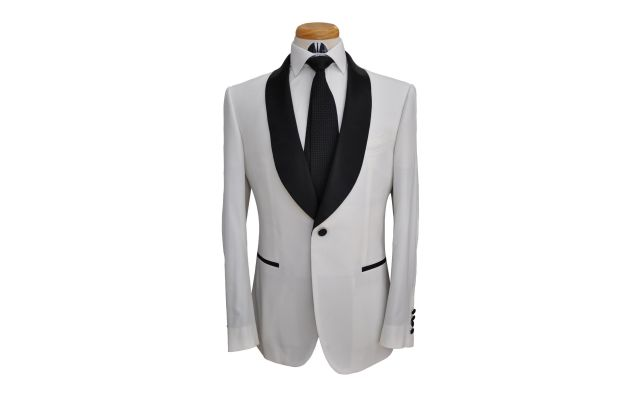White Custom Wool Suit