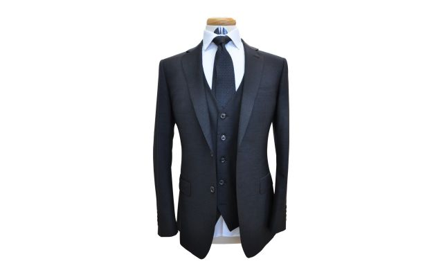 Charcoal Custom Wool Suit
