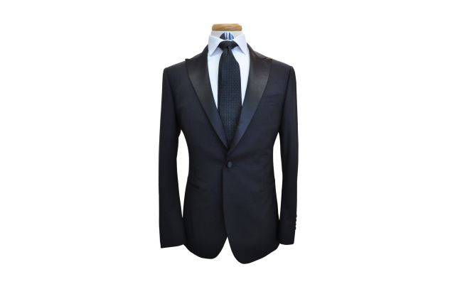 Black Custom Wool Suit