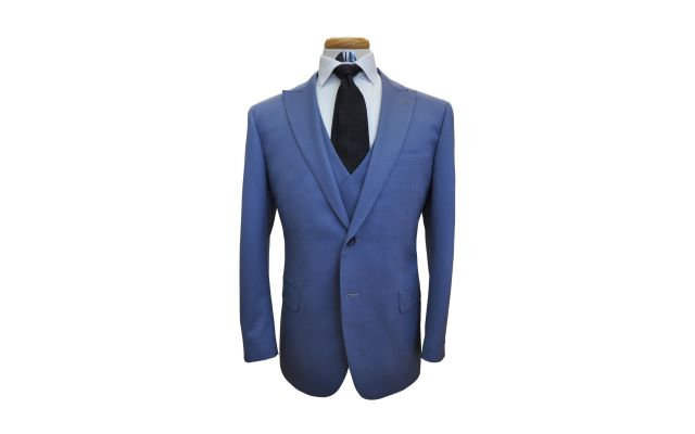 Steel Blue Custom Suit