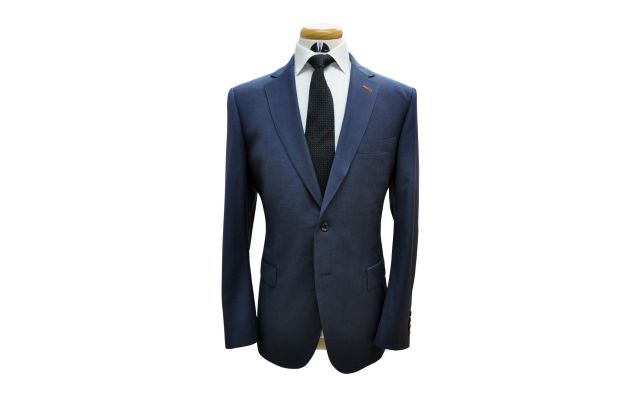 Space Blue Custom Wool Suit