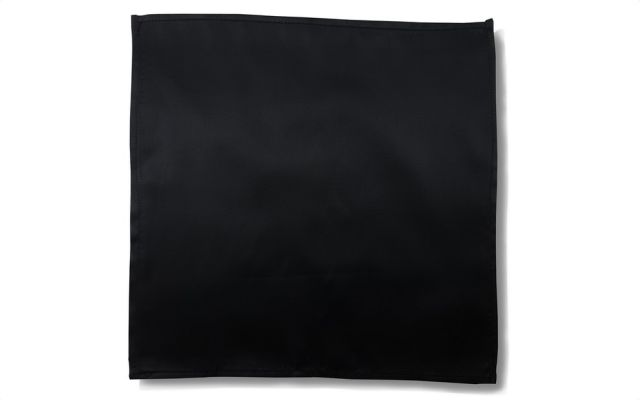 Silky Black Handkerchief