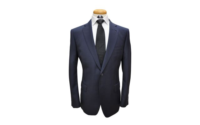 Navy Glencheck Custom Wool Suit