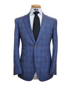 Carolina Blue Plaid Wool Suit