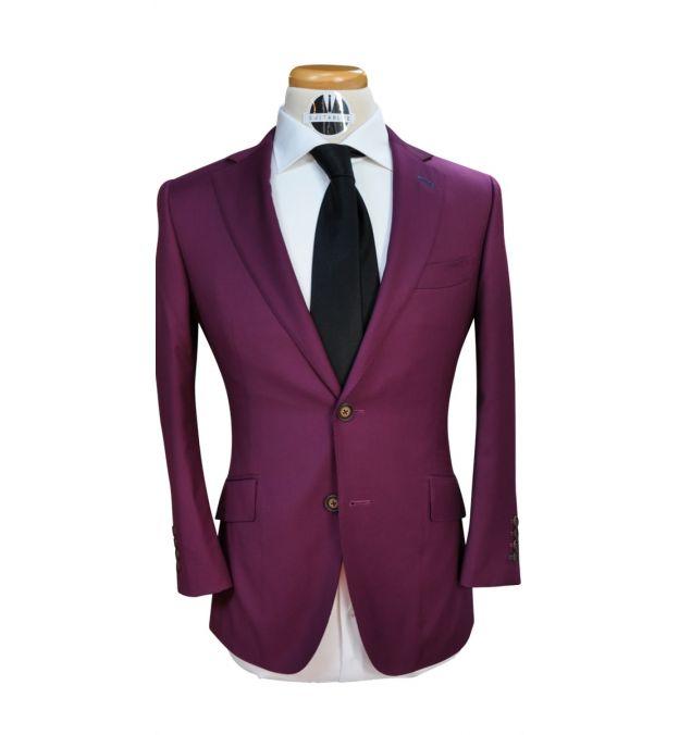 Purple Custom Wool Suit