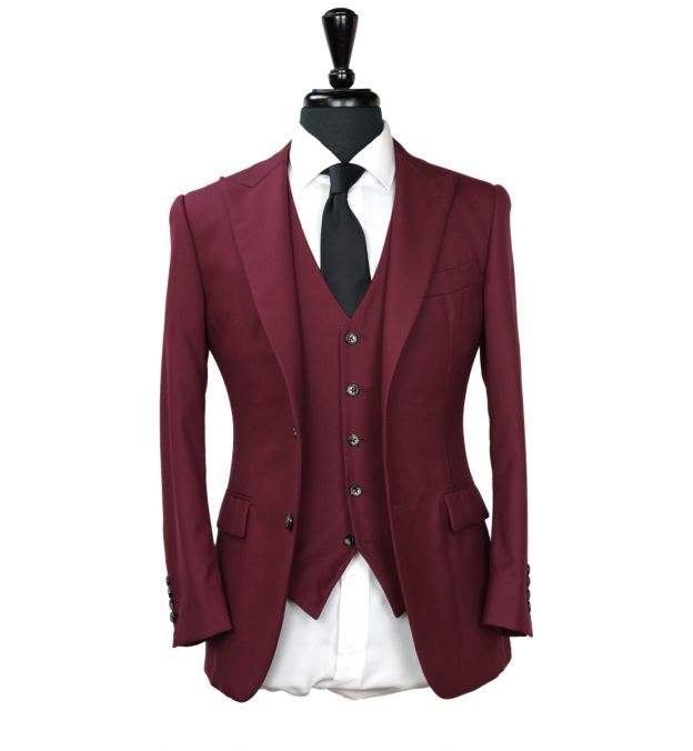 Cherry Red Wool Suit