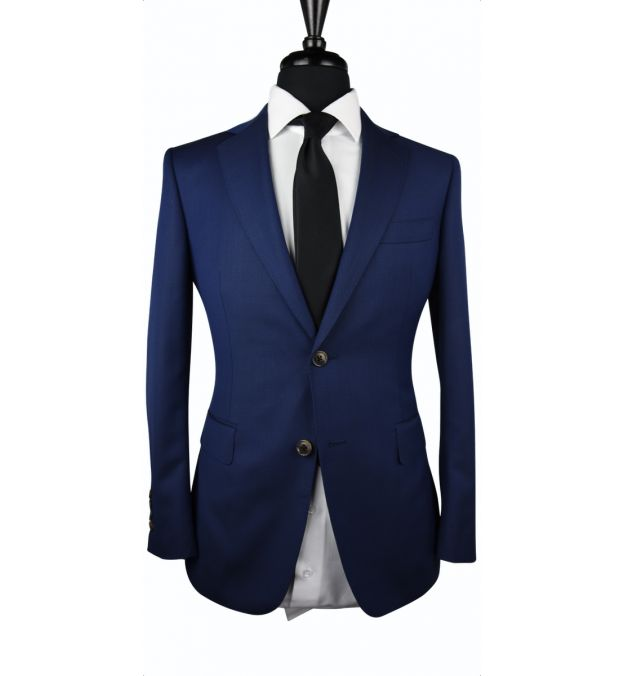 Navy Blue Birdseye Wool Suit