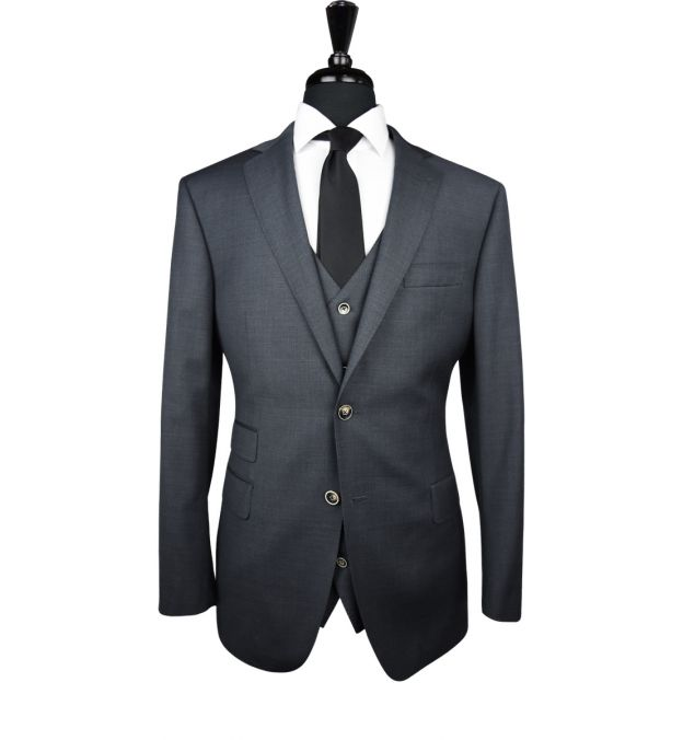 Charcoal Grey Wool Suit