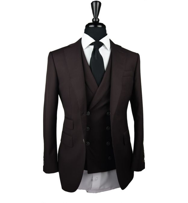 Brown Wool Suit