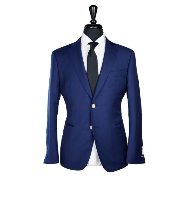Navy Blue Twill Wool Suit