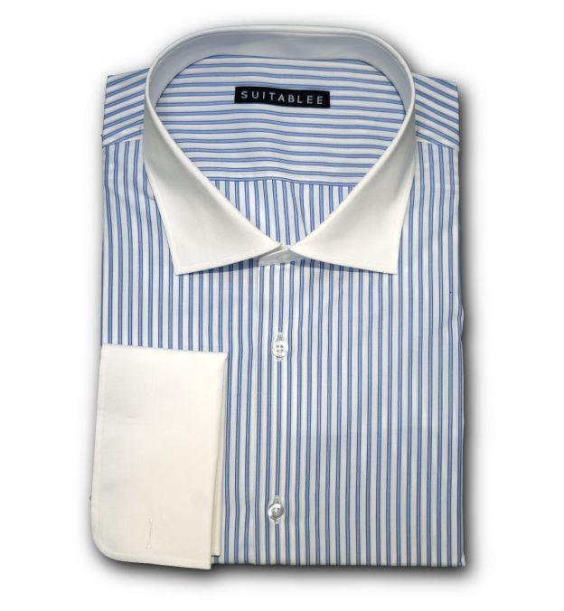 Light Blue Stripe Dress Shirt