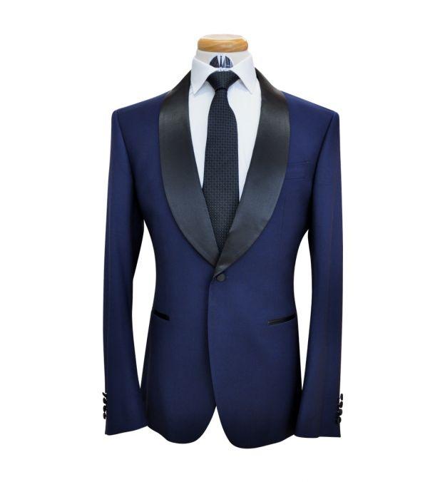 Oxford Blue Wool Tuxedo