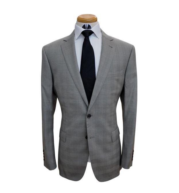 Khaki Plaid Wool Suit
