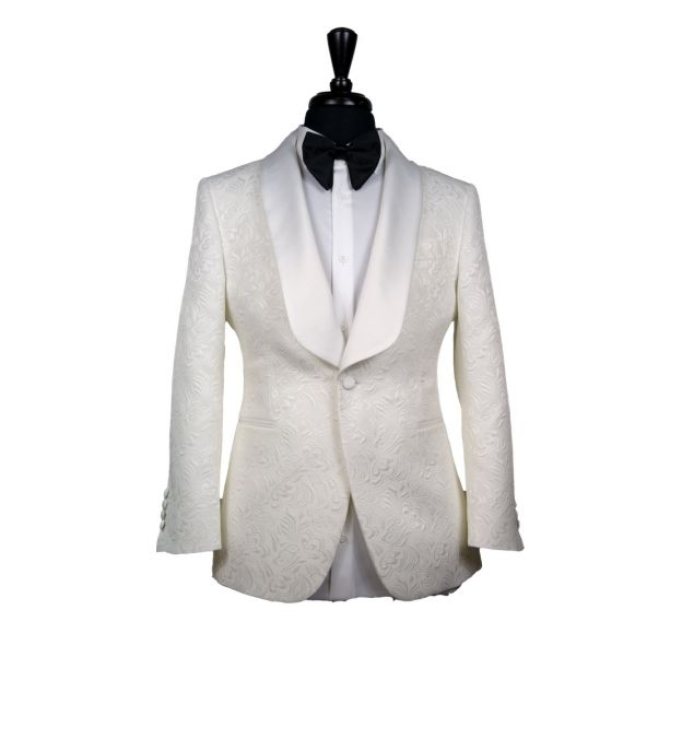 Ivory Paisley Jacquard Tuxedo