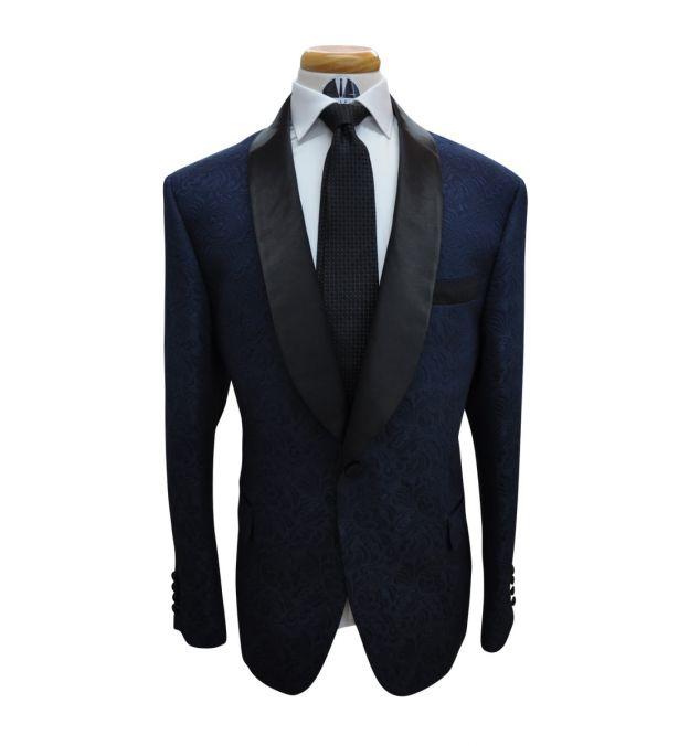 Blue Jacquard Tuxedo