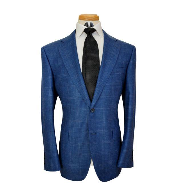 Yale Windowpane Wool Mix Suit