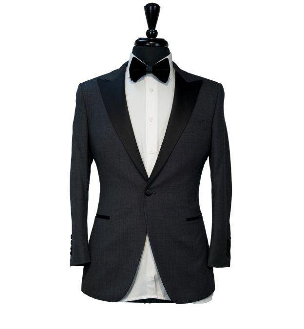 Dark Grey Birdseye Tuxedo