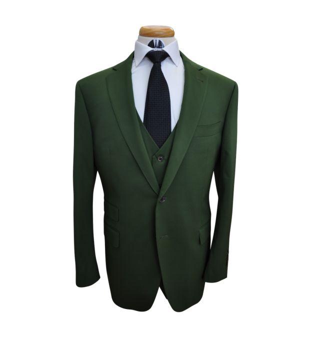 Basil Green Wool Suit