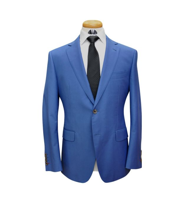 Lapis Blue Wool Suit