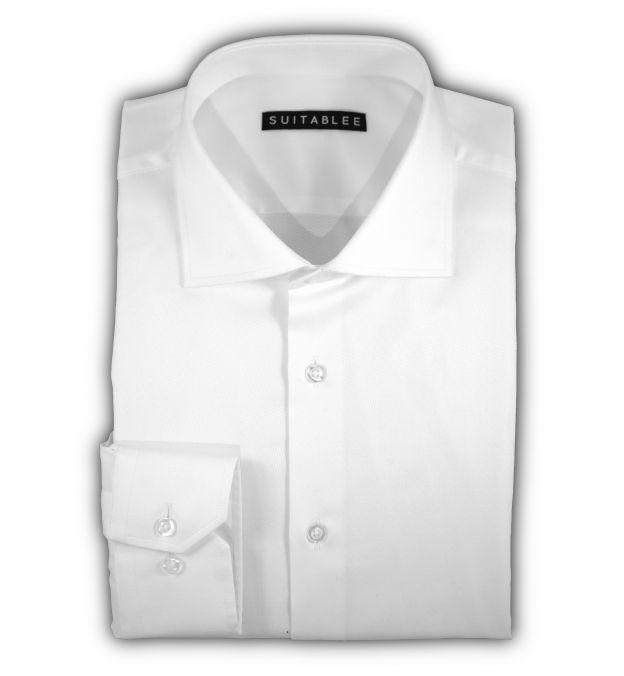 White Diamond Dobby Dress Shirt