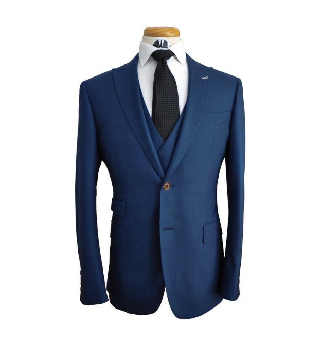 Ocean Blue Wool Suit