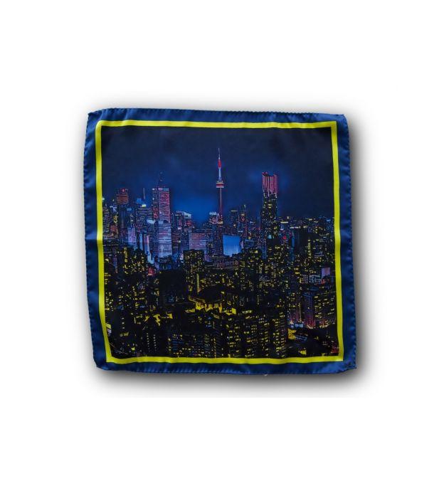 Toronto Skyline Pocket Square