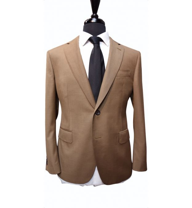 Earth Tone Twill Wool Suit