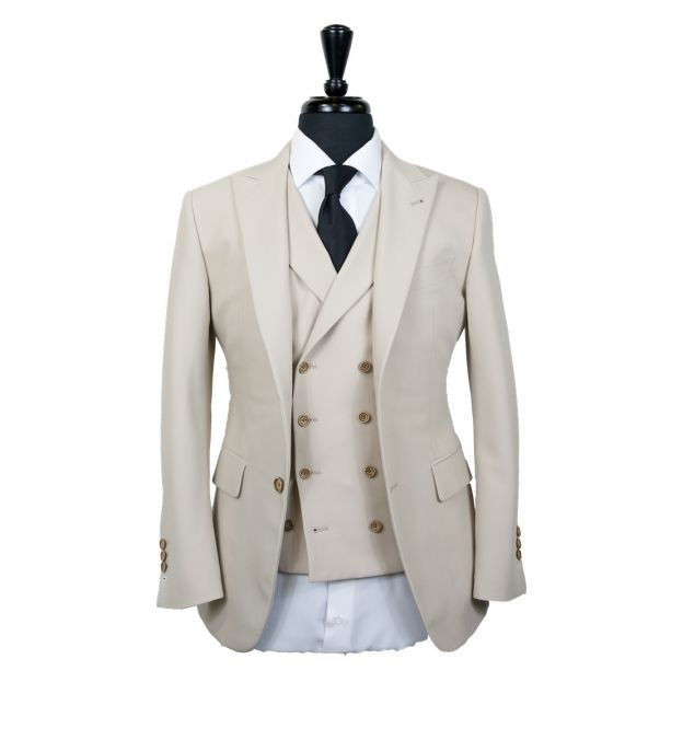 Cream Wool Suit